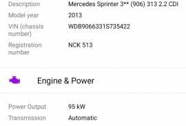 Mercedes Sprinter 313 2.2 CDI 2013 god.